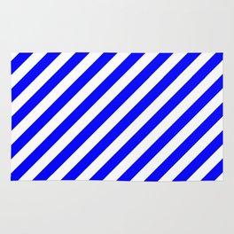 Diagonal Stripes (Blue/White) Rug