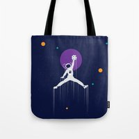 nba Tote Bags featuring NBA Space by Tony Vazquez
