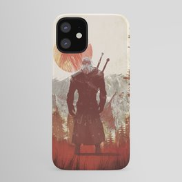 The Witcher Geralt variation print iPhone Case