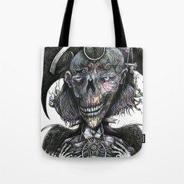 Feminine Skull Tote Bag