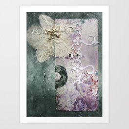 The Moth Orchid Art Print