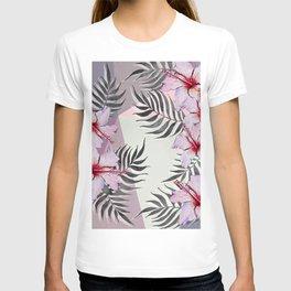 Ibiscus on Geometry T-shirt