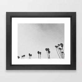 PALM TREES II (B+W) Framed Art Print