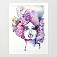 Lady Moon Art Print