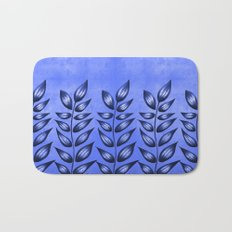 Blue Plant With Pointy Leaves Bath Mat