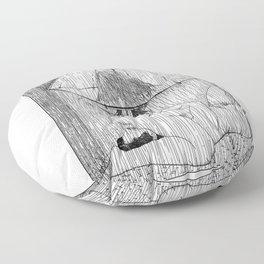 asc 514 - La fille qui aimait la pluie (Rider on the storm) Floor Pillow