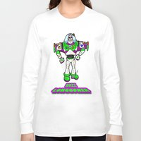 buzz lightyear Long Sleeve T-shirts featuring Buzz Longgoner...  The spookier version of Pixar's Buzz Lightyear from Toy Story by beetoons
