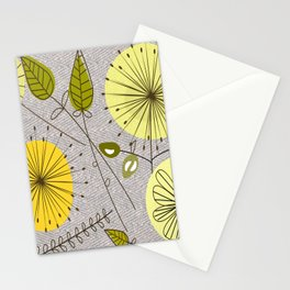 Mid-Century Modern Floral Stationery Cards