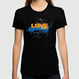 Love Inc - Orange/Blue T-shirt