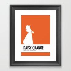 No35 My Minimal Color Code poster Princess Daisy Framed Art Print