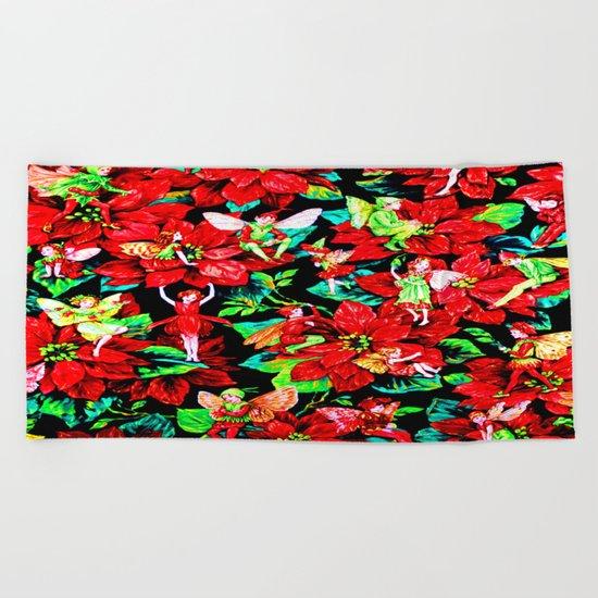 Fairy Flower | Christmas Spirit Beach Towel