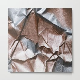 Rose Gold and Silver Abstract Metal Print