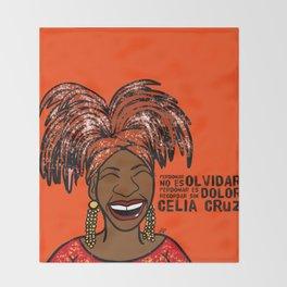 La Reina Celia Cruz Throw Blanket