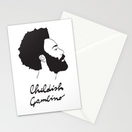 Childish Gambino - Minimalist profile portrait Stationery Cards