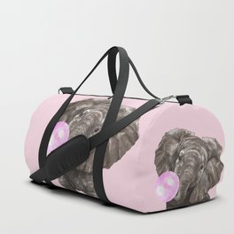 Baby Elephant Blowing Bubble Gum Duffle Bag