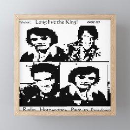 The King. USA Teletext tribute ART. TV ART. Framed Mini Art Print