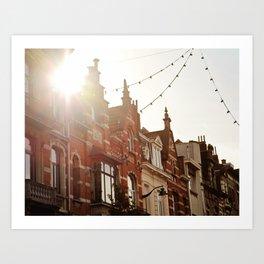 Belgian Homes Art Print