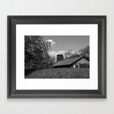 B&W Barn Framed Art Print