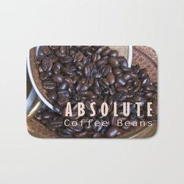 COFFEE BEANS with Blue Artichoke Bath Mat