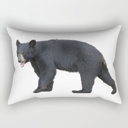 Young American Black Bear isolated on white background Rectangular Pillow