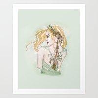 virgo Art Prints featuring Virgo by Vibeke Koehler