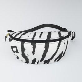 Black & White Animal Stripes Fanny Pack