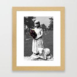 Girl Statue 2 Framed Art Print