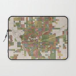 Vintage Map of Spokane WA (1910) Laptop Sleeve