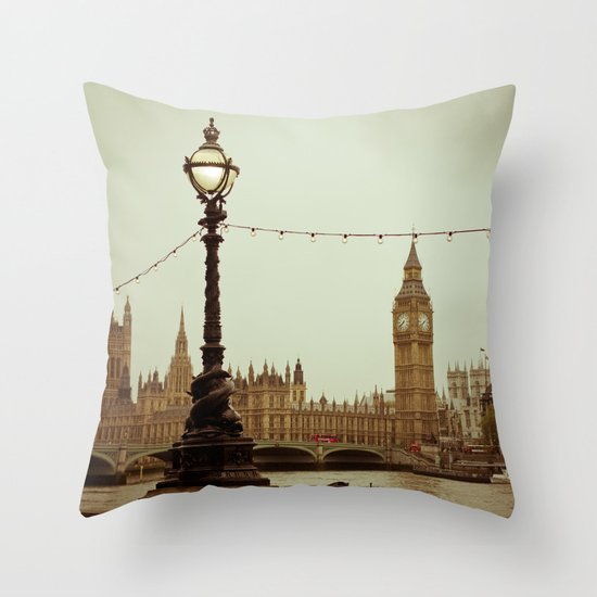 The old clock Throw Pillow