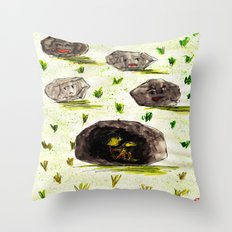 I Stuck in the Stone!!! Throw Pillow