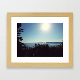 Above the Lake Framed Art Print