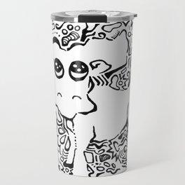 Moose Lineart Travel Mug