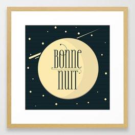 Bonne Nuit  - Square Framed Art Print
