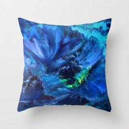 Blue Anemone Throw Pillow