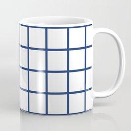 Navy Grid Pattern Coffee Mug