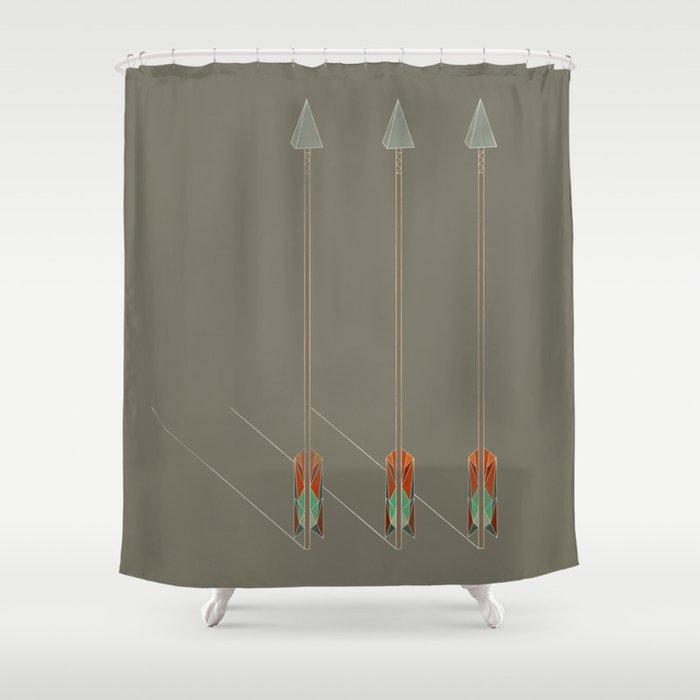 3 Arrows Shower Curtain