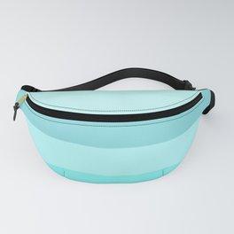 Ocean: Soft Blue Green Stripes Fanny Pack