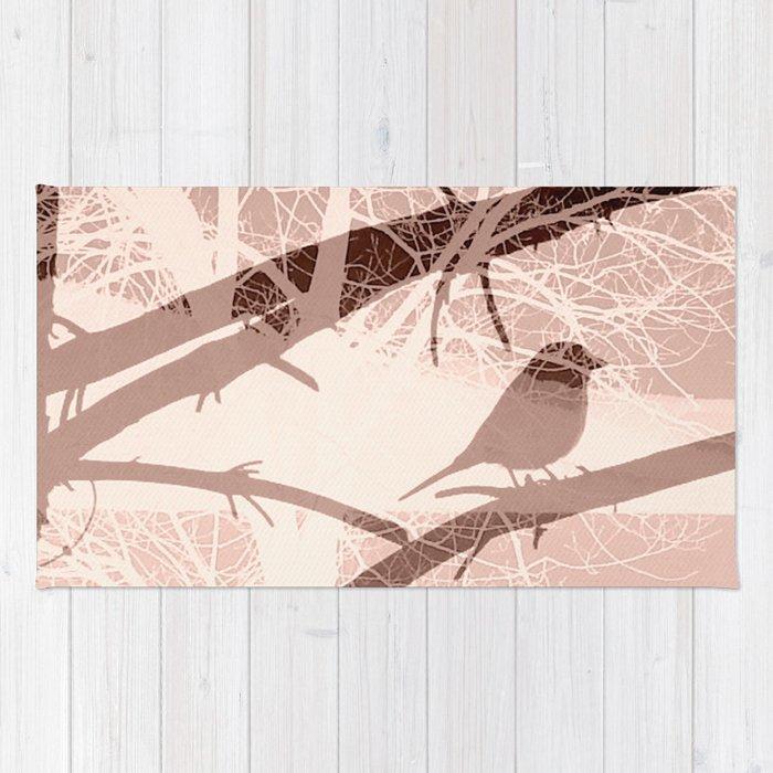 Bird tree Rug
