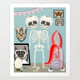 Curiousity Cabinet #1 Art Print
