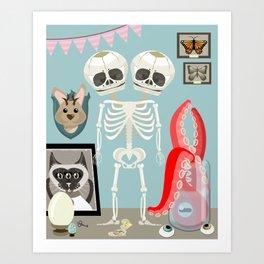 Curiousity Cabinet #1 Art Print