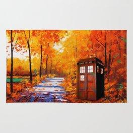 Tardis Autumn Art Painting Rug