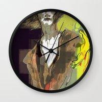sandman Wall Clocks featuring the sandman by thimblings