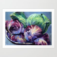 Radicchio & Cabbage Art Print