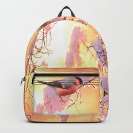 Bullfinch Birds In Sunny Winter Morning #decor #society6 Backpack