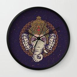Ganesha Mandala Wall Clock
