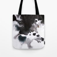 abyss Tote Bags featuring Abyss by Naomi Shingler