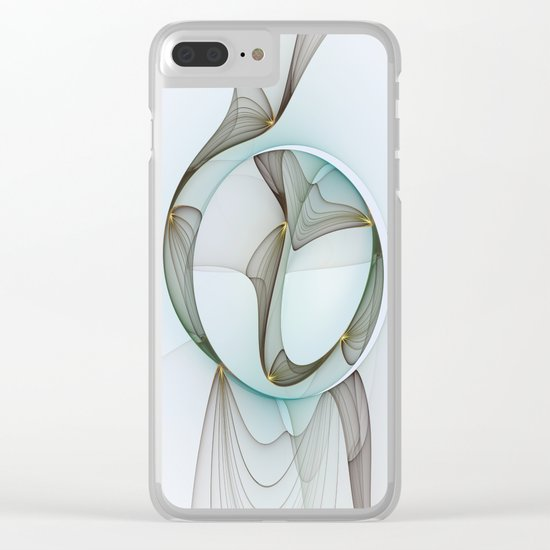 Abstract Elegance Clear iPhone Case