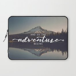 Trillium Adventure Begins - Nature Photography Laptop Sleeve