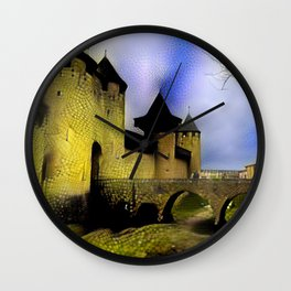 Walls of Carcassonne Wall Clock