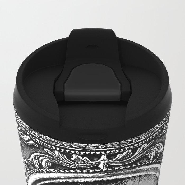 King Smokey black and white Metal Travel Mug